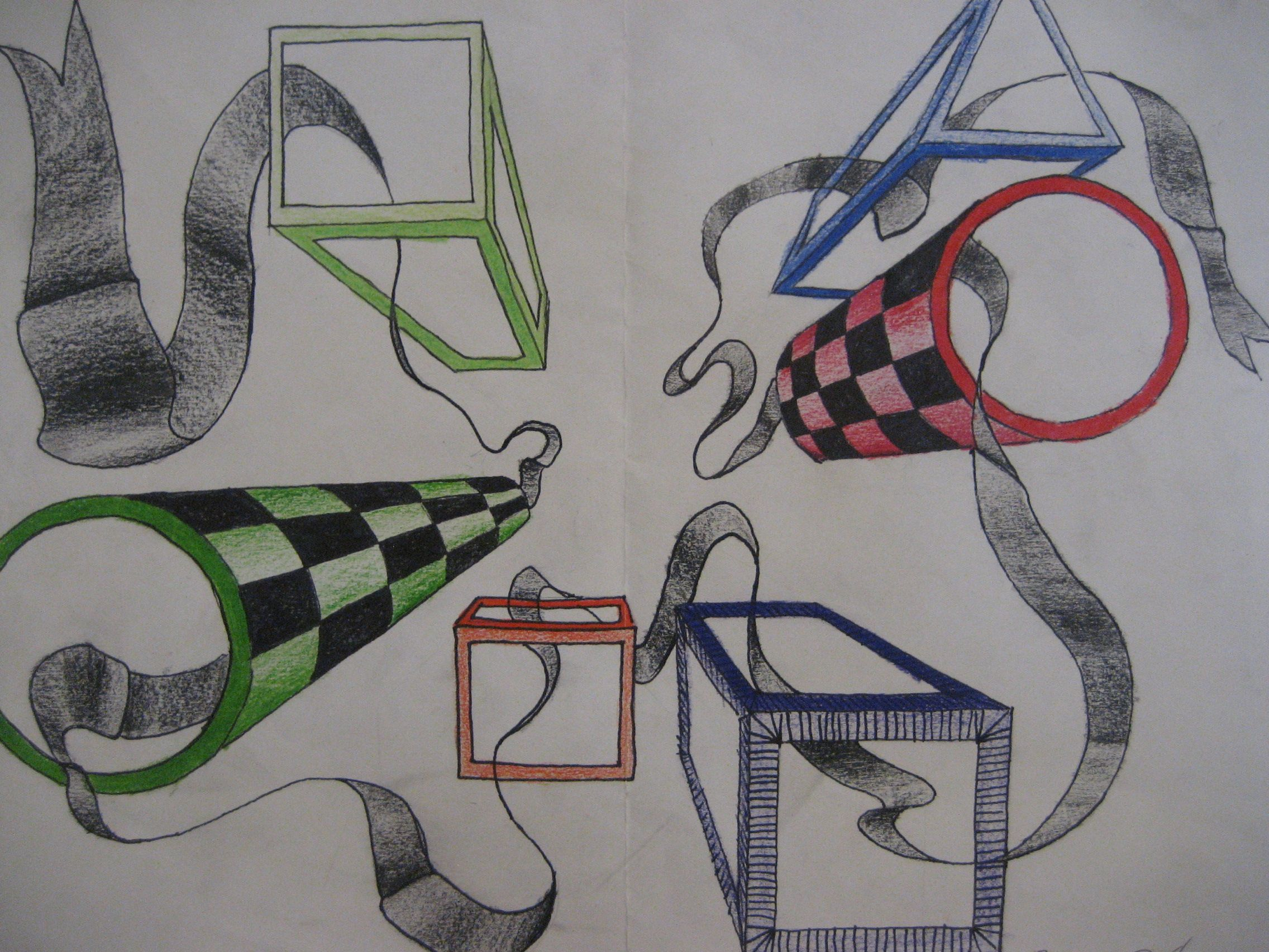 In Out And Through One Point Perspective Drawing