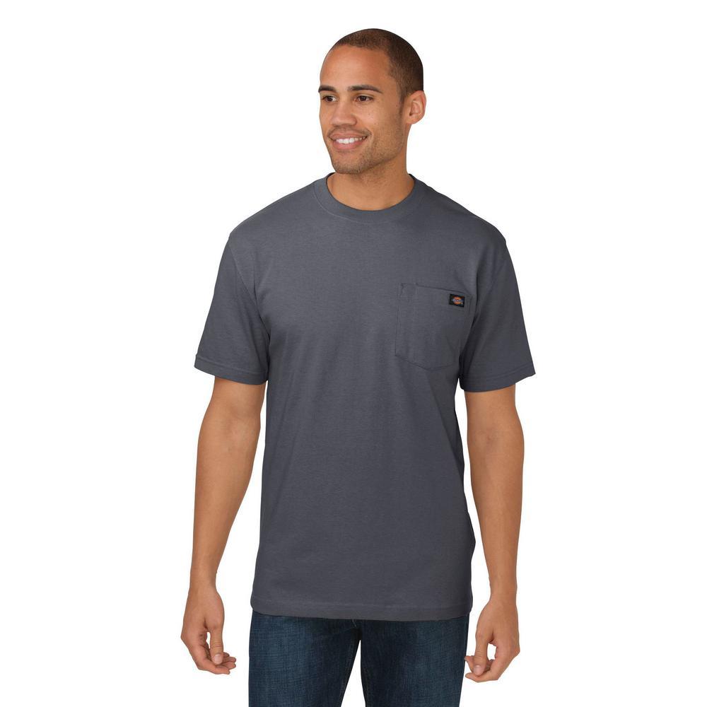 Dickies mens charcoal heavyweight crew neck tshirt