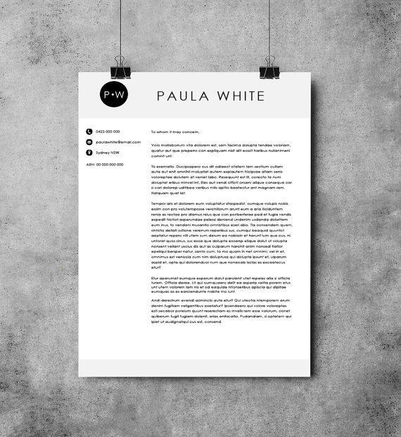 Printable Letterhead Template  Digital Marketing Template