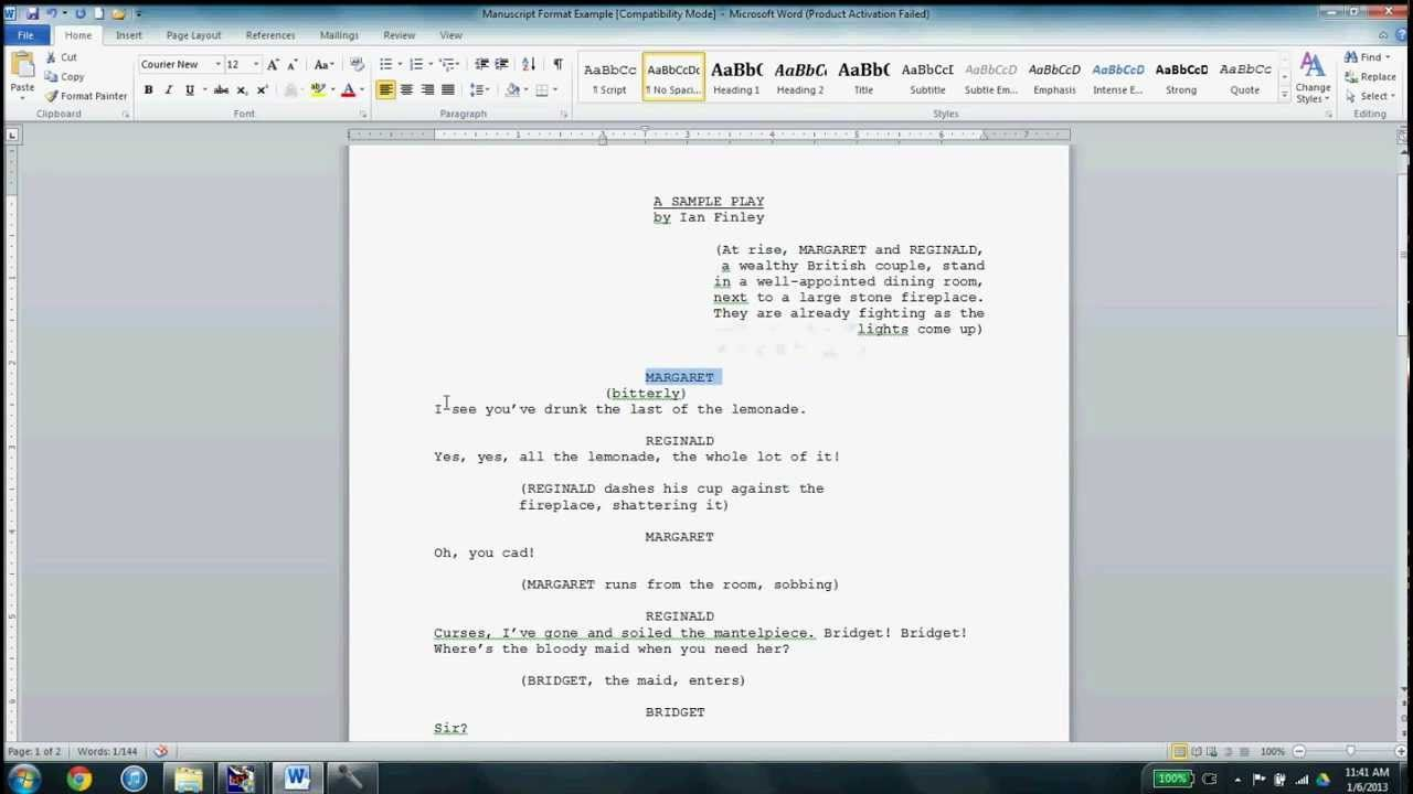 Play Writing Format Dalep Midnightpig Co Pertaining To Microsoft Word Screenplay Template In 2020 Screenplay Template Professional Templates Word Template Play script format in word