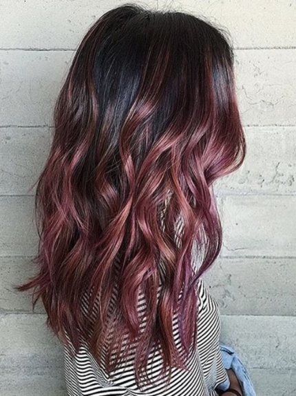 Finally A Beautiful Trend For Dark Hair Chocolate Mauve