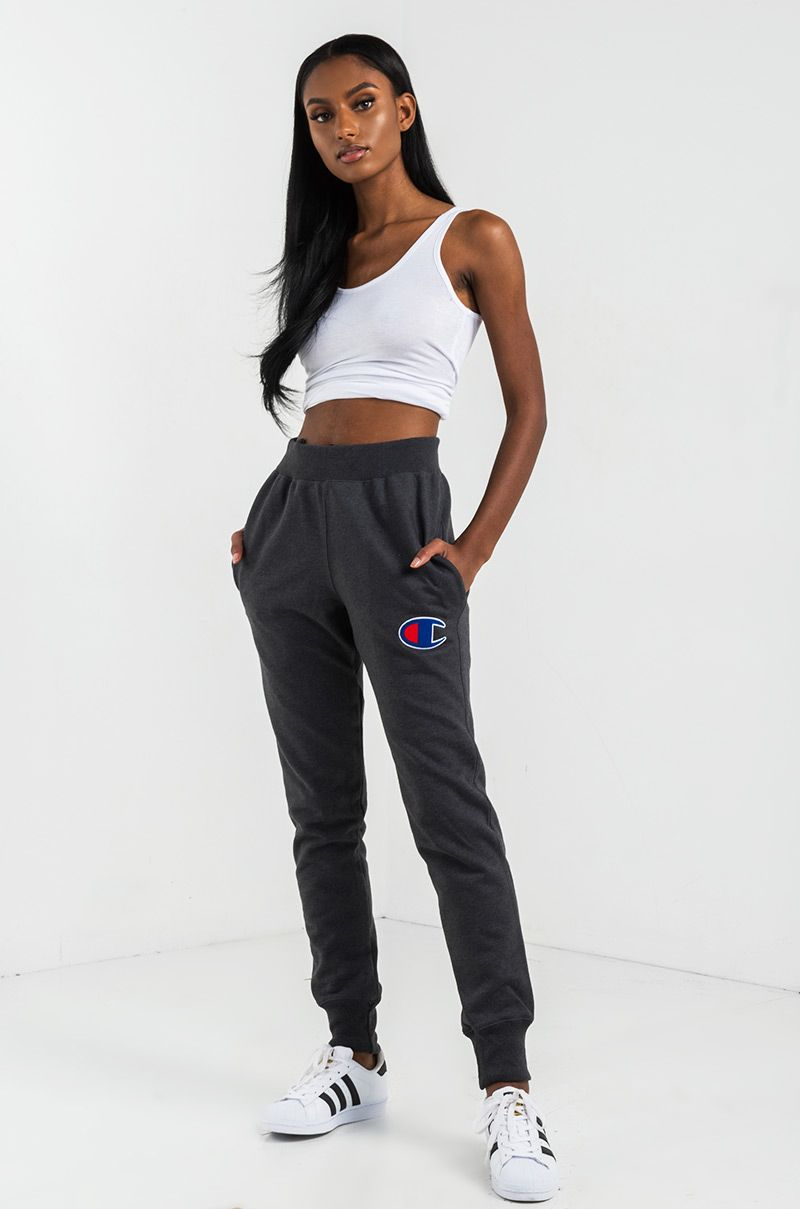 Champion Women S Jogger In Black Team Maroon Navy And Oxford Grey Joggers Womens Champion Clothing Joggers Outfit