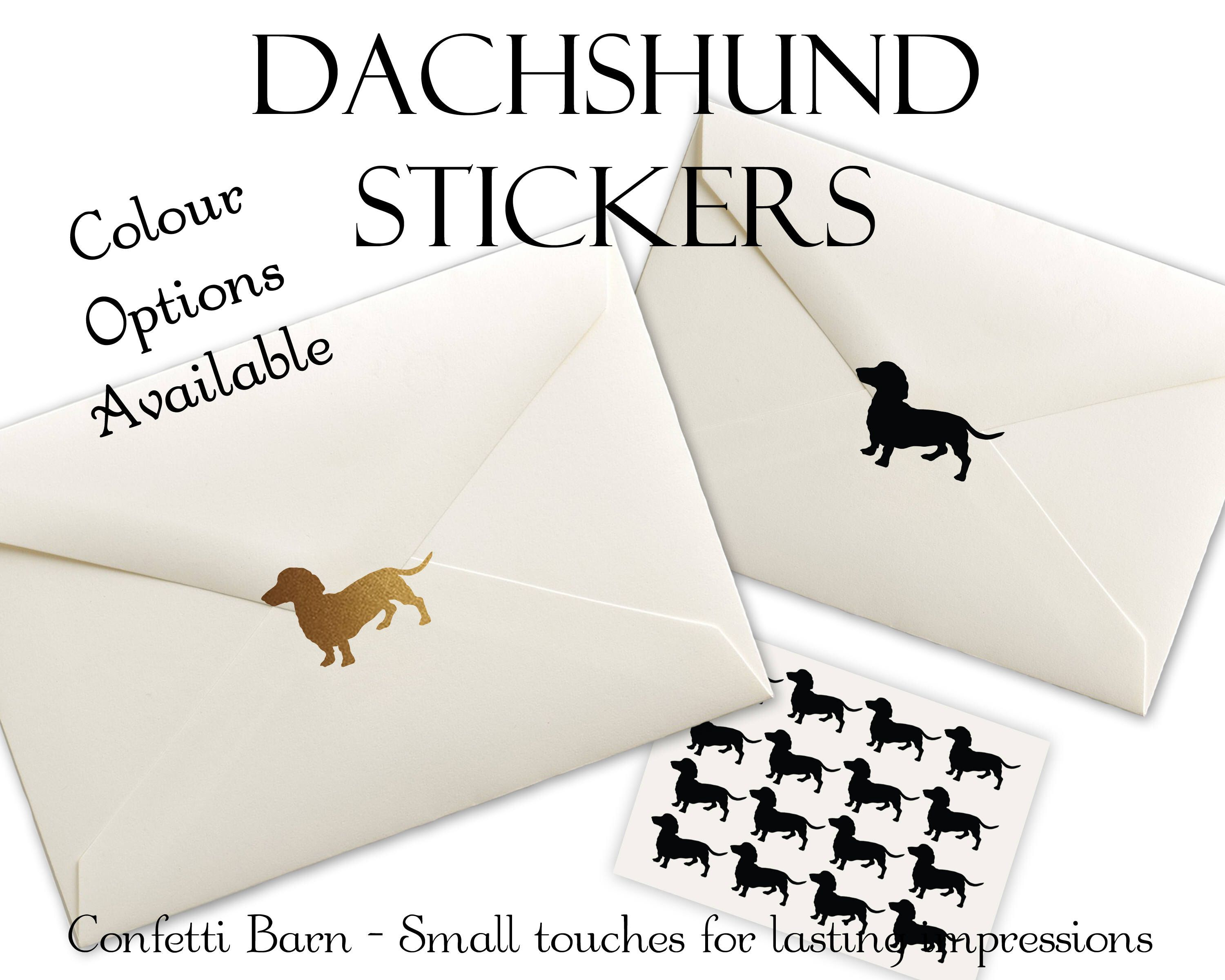 Dachshund Stickers - Dog Party - Removable Vinyl - Party Invitations ...