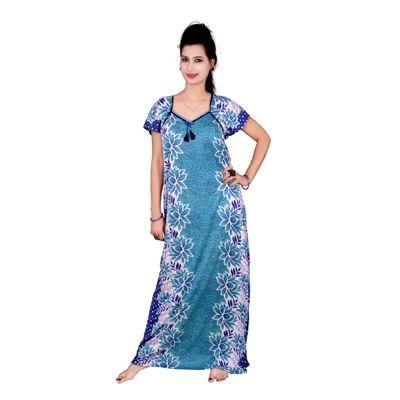33b6f07ba2 Kismat Fashion Satin Night Gown Solid Nightwear Pink - (Pack of 1 ...