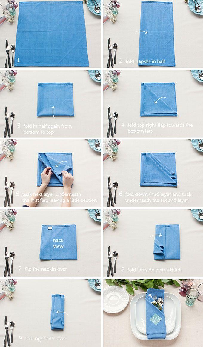 Table Setting Tips 3 Basic Napkin Folds Napkin Folding Napkins