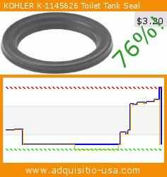 KOHLER K-1145626 Toilet Tank Seal (Tools & Home Improvement). Drop 76%! Current price $3.20, the previous price was $13.20. https://www.adquisitio-usa.com/kohler/1145626-toilet-tank-seal