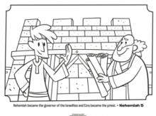 Ezra And Nehemiah Coloring Page What S In The Bible Goodies