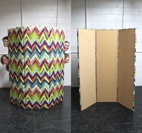 Diy Room Divider Made From Cardboard You Re The Artist Diy Room