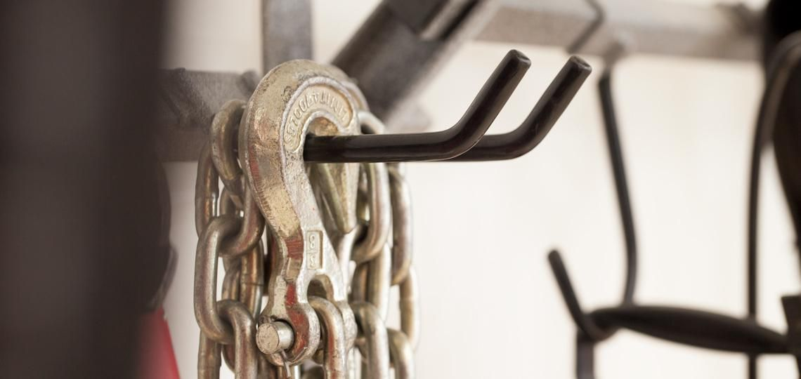 hook systems are perfect for storing heavy items in the garage