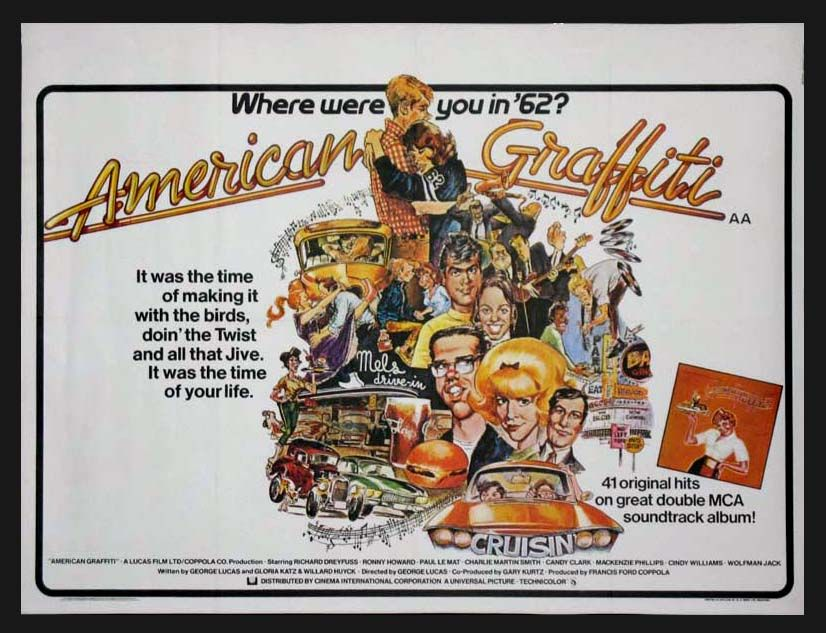 AMERICAN GRAFFITI (1973) Original British Quad size, 30x40 movie ...