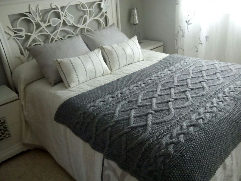 Manta de ochos tejida a mano de accs kids por dawanda - Ikea mantas para camas ...