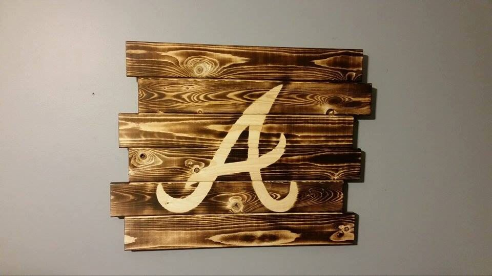 Atlanta Braves Wall Art Atlanta Braves Braves Baseball Decor
