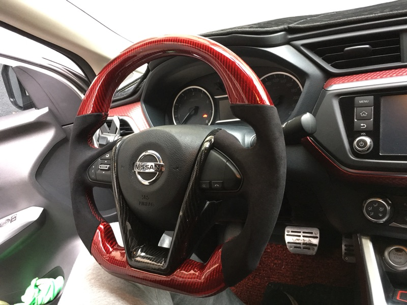 Custom Made Carbon Fiber Steering Wheel For 2017 Nissan Maxima Color Design Customizable