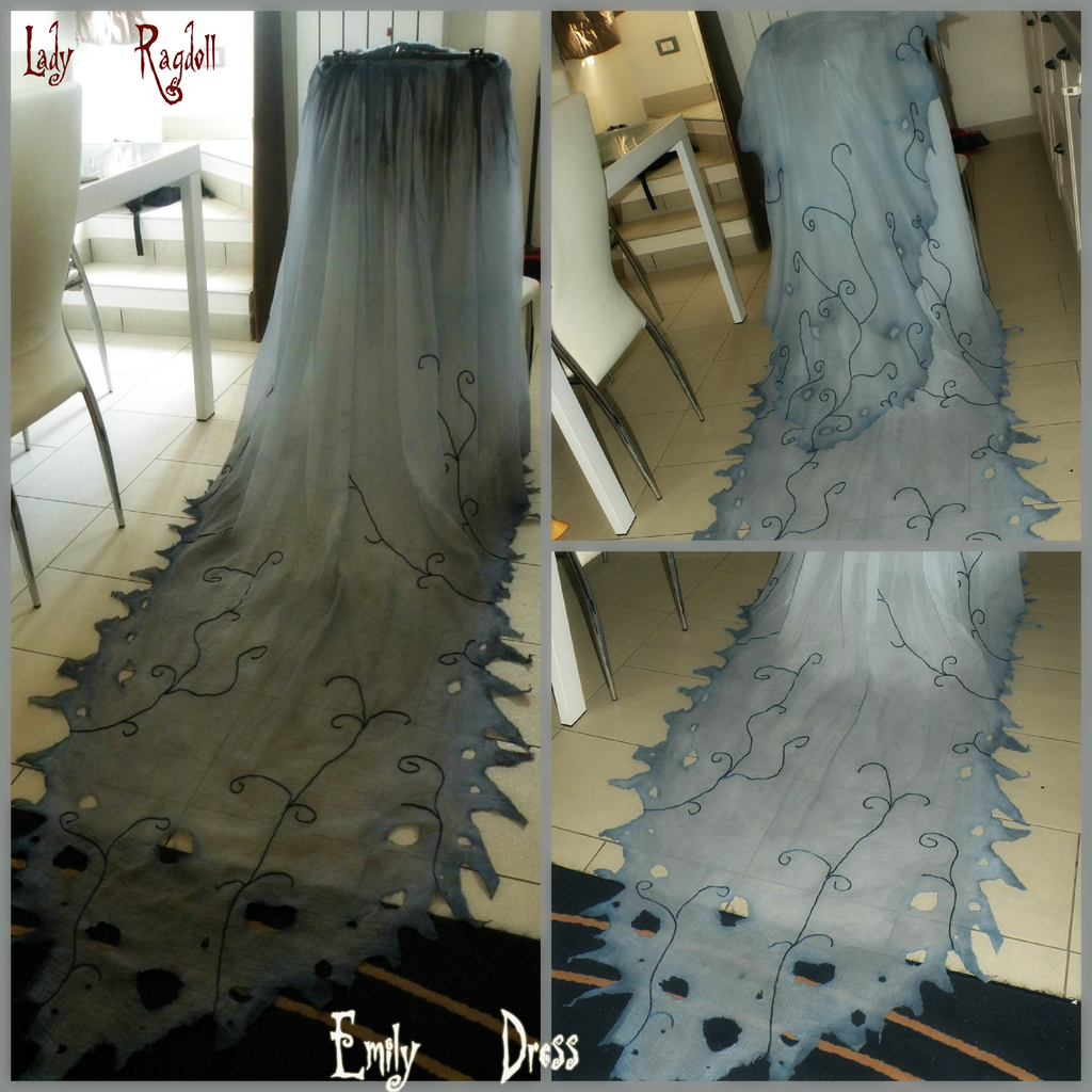 Corpse bride dress wip by ladyragdollviantart on
