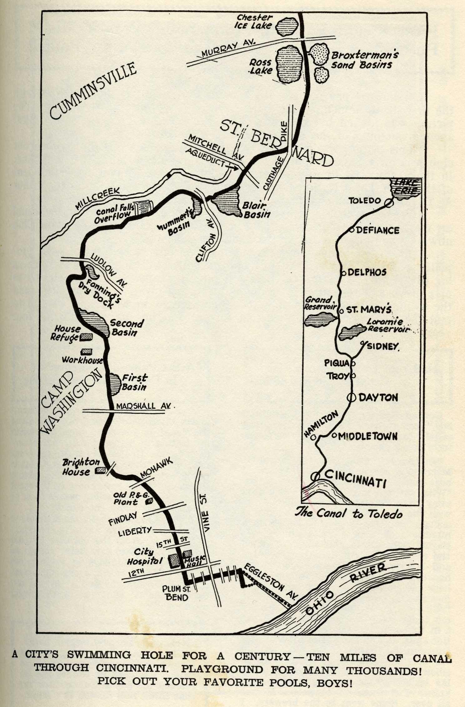 Cincinnati Subway Map.1929 Canal Swimming Cincinnati In 2019 Erie Canal Ohio River