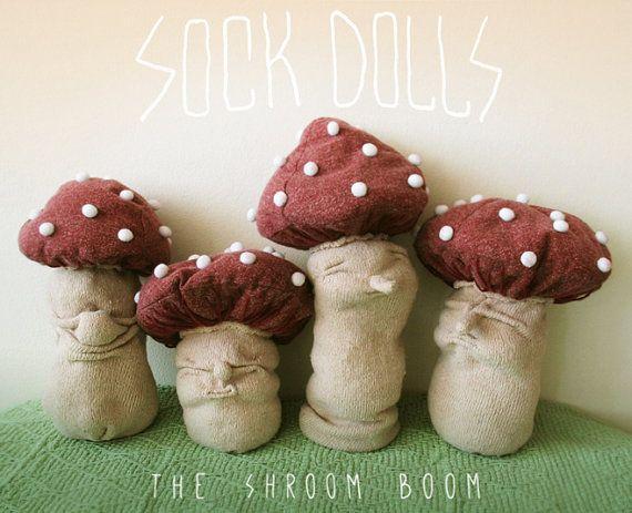 Astonishing Mushroom Doll Sock Doll Toadstool Mushroom Red Cap Chewing Download Free Architecture Designs Terstmadebymaigaardcom