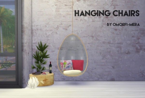 Omorfi Mera Hanging Chairs Sims 4 Downloads Sims 4