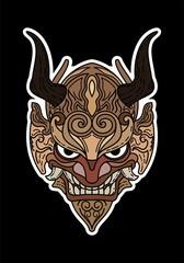 Wongbagoes Photos Images Assets Adobe Stock Mask Drawing Oni Mask Drawings