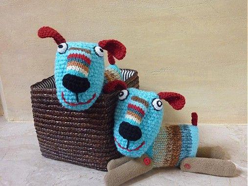 Modrý psík by monkeytonkey - SAShE.sk - Handmade Hračky