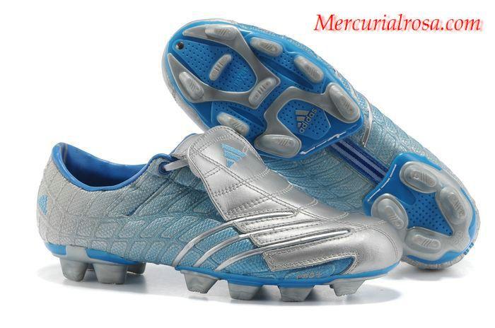 2c9c62ac68b Adidas F50+ TRX FG Soccer Cleats Silver Blue Soccer Cleats