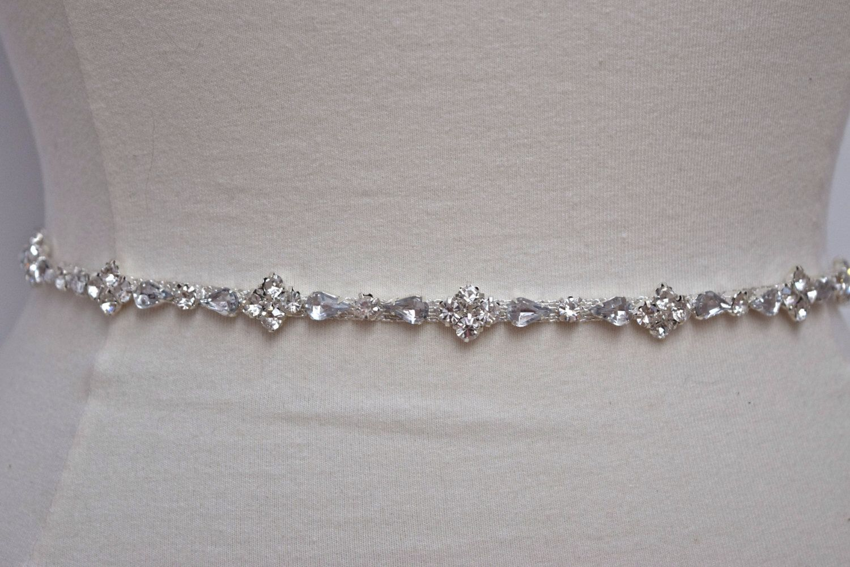 Custom Thin Rhinestone Belt Bridal Belt Bridal Belt or