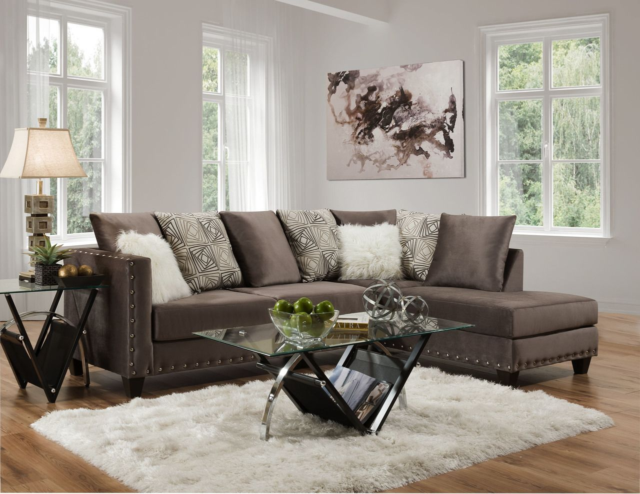 Delta Furniture Melon Cloud Sectional Sofa Upholstered Sectional