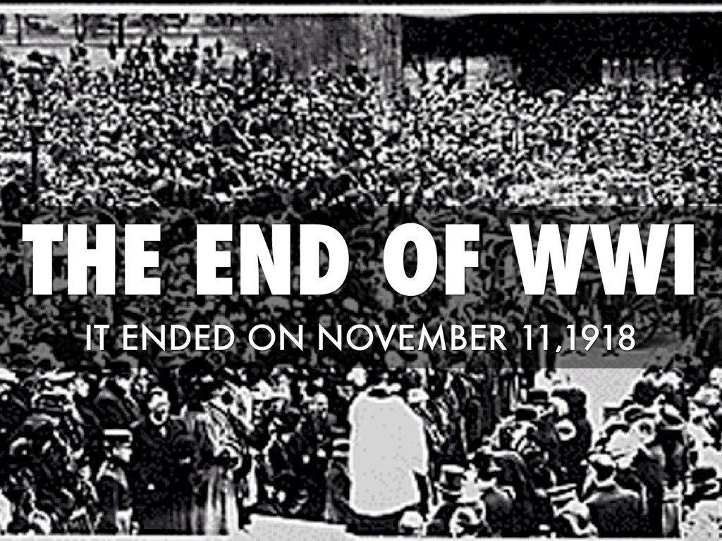 11 November 1918 – Wapenstilstand