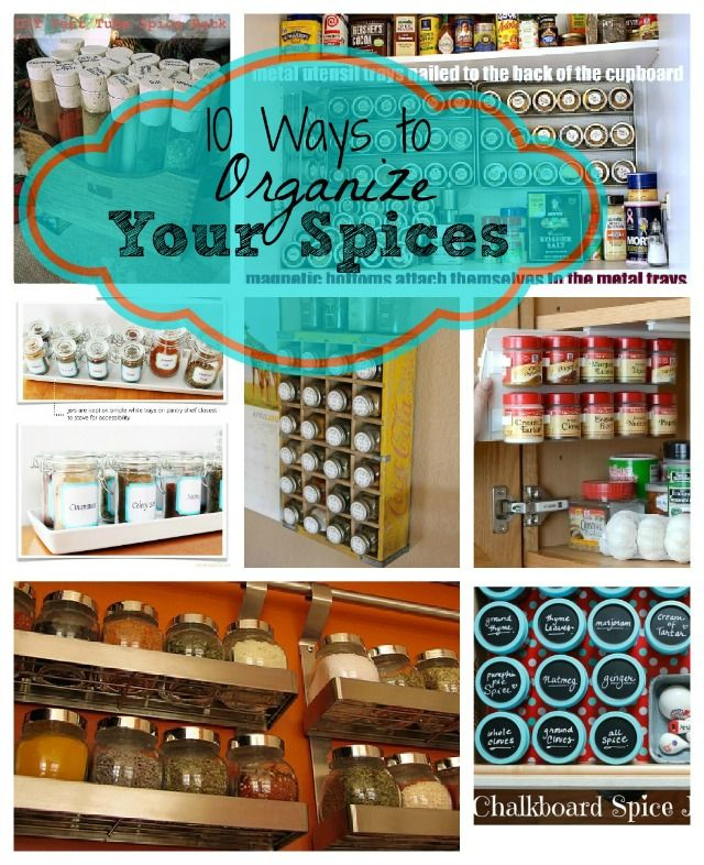 10 super easy ways to organize your spices! Great ideas for small spice cupboards! | kitchen organizing ideas | spice cupboard organizing ideas