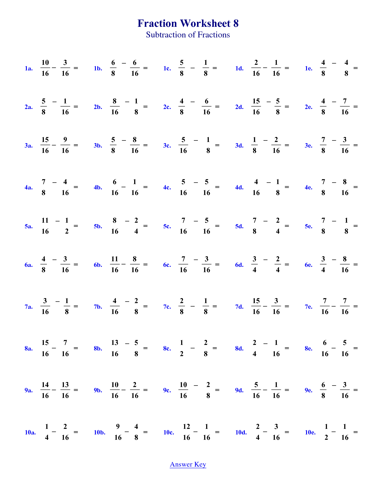 5 Images of For 4th Grade Math Worksheets With Answer Key   Math fractions  worksheets [ 1650 x 1275 Pixel ]