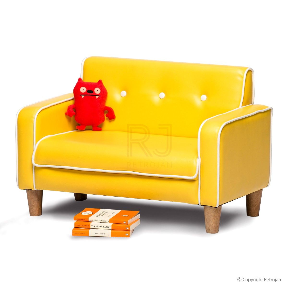 Buy Ginny Kids Sofa Fire Engine Red line