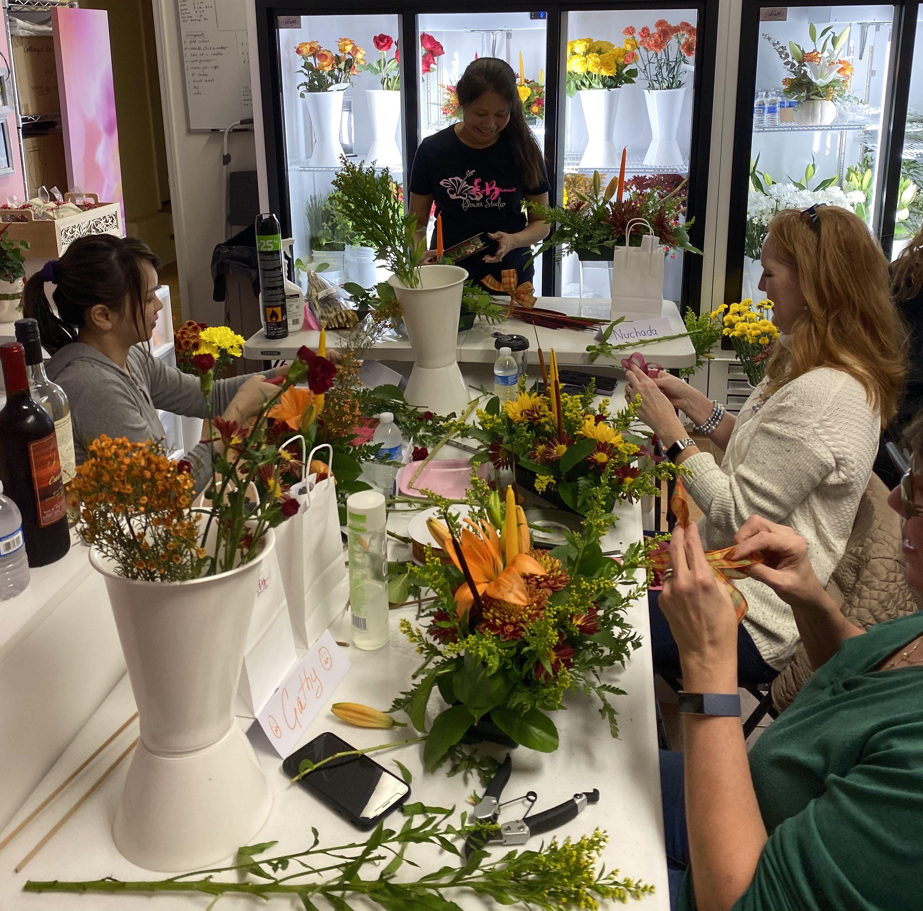 Eb flower studio floral class floral arrangement classes