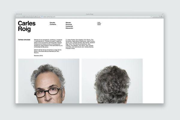Carles Roig Website on Web Design Served