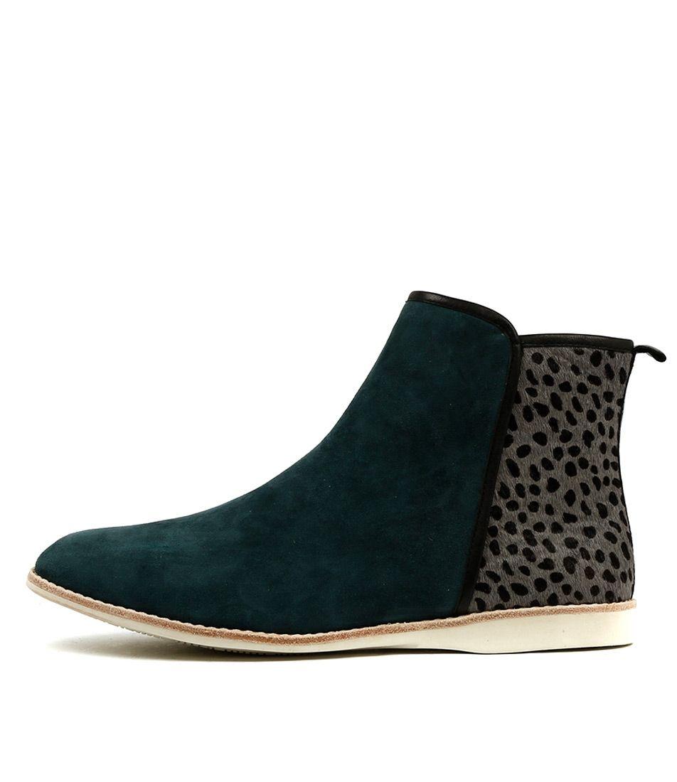 d698d39fab0 Cinori Shoes online - SILENT D - Natta Teal Steel Spot   Shoes ...