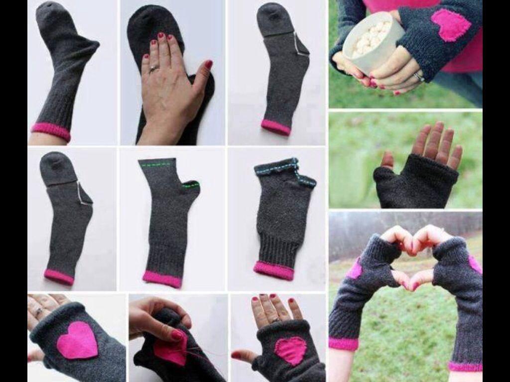 Fingerless gloves diy - Fingerless Gloves From Socks Diy