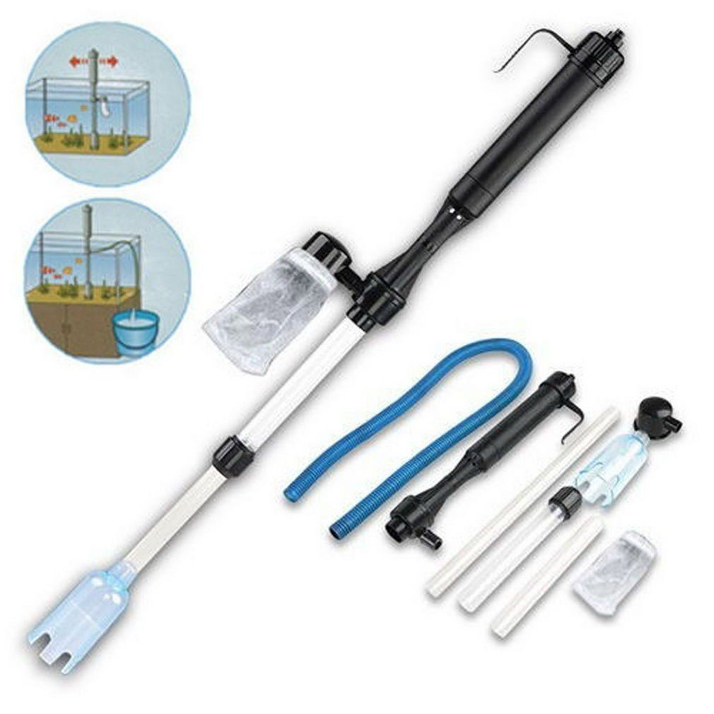 Fish tank gravel cleaner - 4 Pcs Aquarium Cleaning Fish Tank Easy Tools Battery Gravel Cleaner Filter Washer Auto Pump Siphon