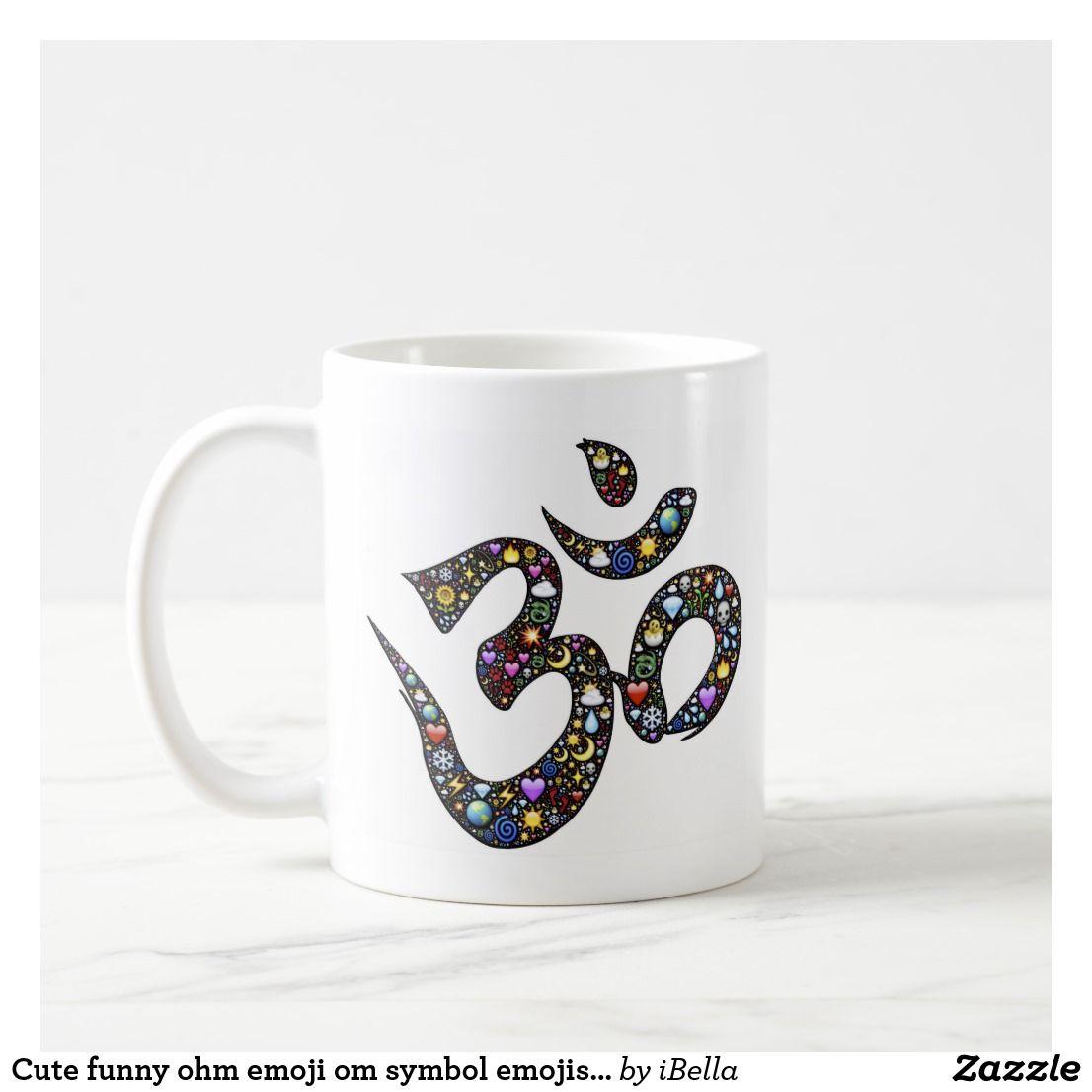 Cute funny ohm emoji om symbol emojis hipster yoga | Custom