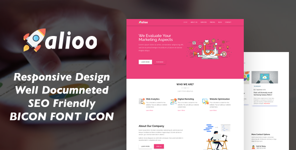 Alioo seo marketing html template marketing corporate best new alioo seo marketing html template marketing corporate html templates wordpress template wordpress maxwellsz