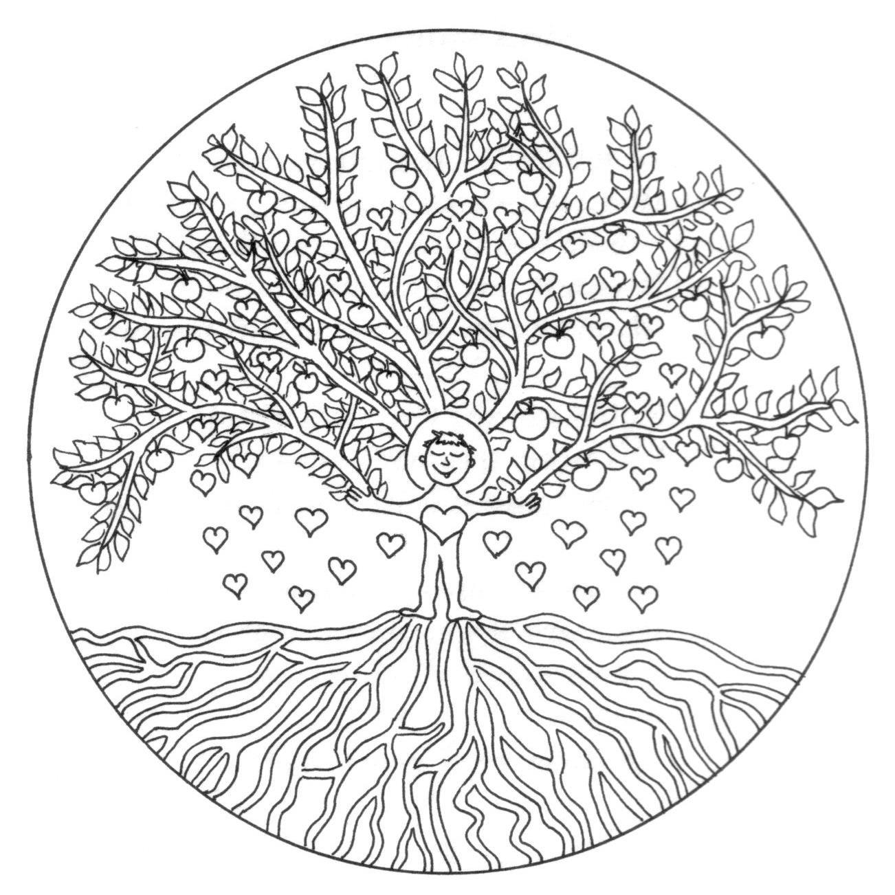 Baum Mandala Google Zoeken Coloring Pages Wedding