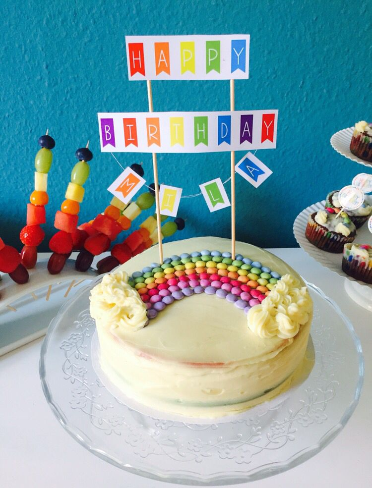 Mila S 3rd Birthday Rainbow Cake Kids Birthday