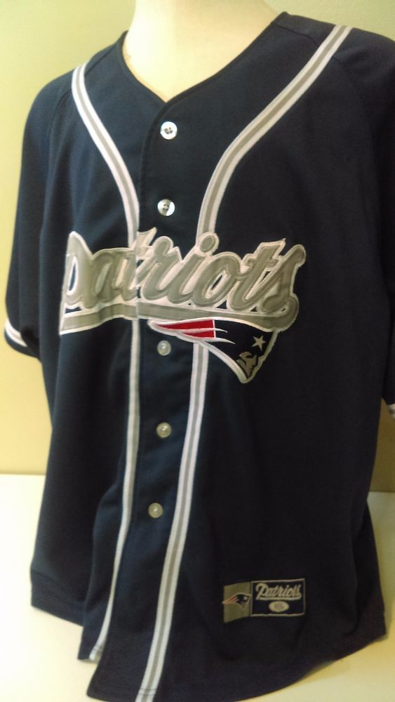 New England Patriots Button Jersey HTF Baseball style  NFL   NewEnglandPatriots 48b1c8ebb
