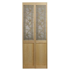 Pinecroft Tuscany Solid Core Patterned Glass Pine Bi-Fold Closet Interior Door With Hardware (  sc 1 st  Pinterest & Pinecroft Tuscany Solid Core Patterned Glass Pine Bi-Fold Closet ...