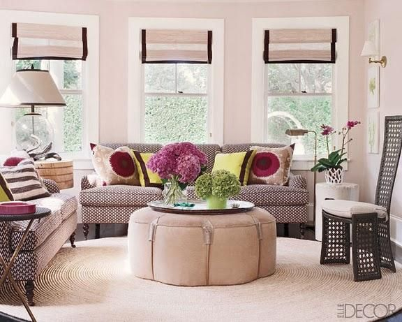 great mix of pattern with a neutral base