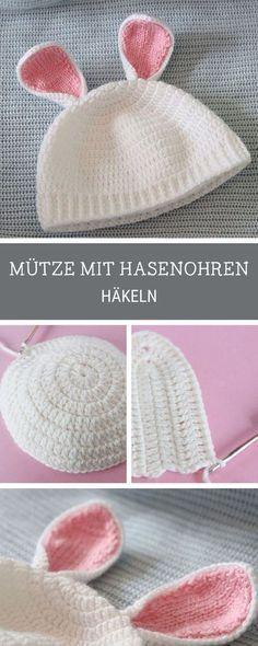 DIY-Anleitung: Babymütze mit Häschenohren häkeln via DaWanda.com ...