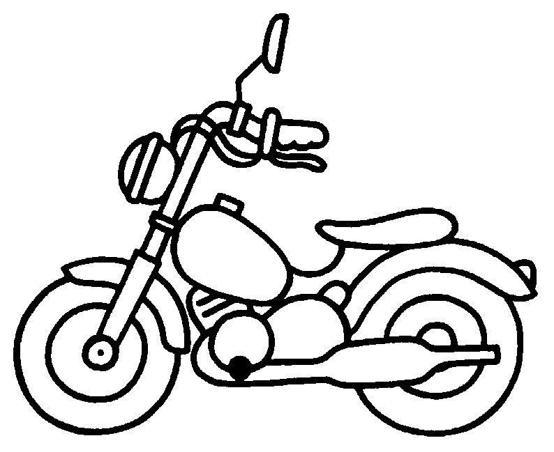 b u00e9b u00e9 motard - coloriage moto
