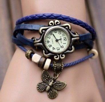 Reloj Pulsera Vintage Cuero Dama Relojes Somos Tienda Bs 1 450 00 Pulseras De Cuero Relojes Modernos Reloj Pulsera
