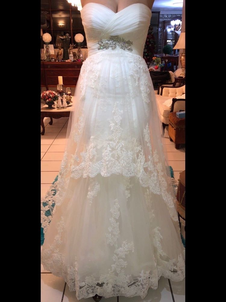 Pronovias Bergamo Wedding Dress By Manuel Mota Pre Owned