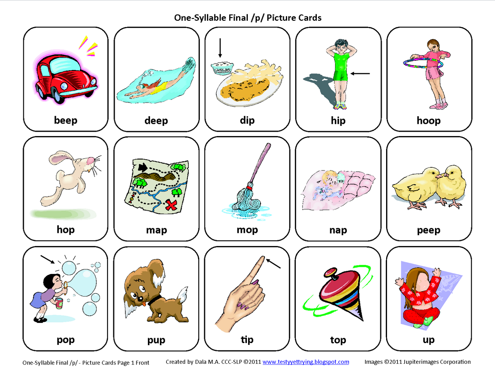 Final P Articulation Card Download This Articulation