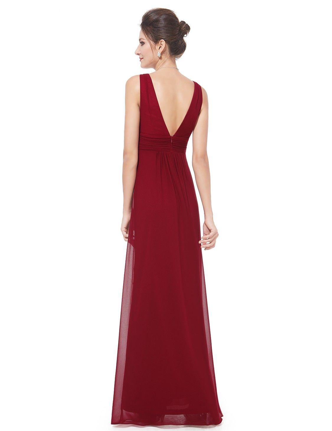 Sleeveless V-Neck Semi-Formal Maxi Dress   Ever-Pretty ...