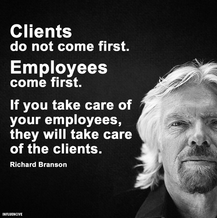Image result for service oriented staff quotation richard branson