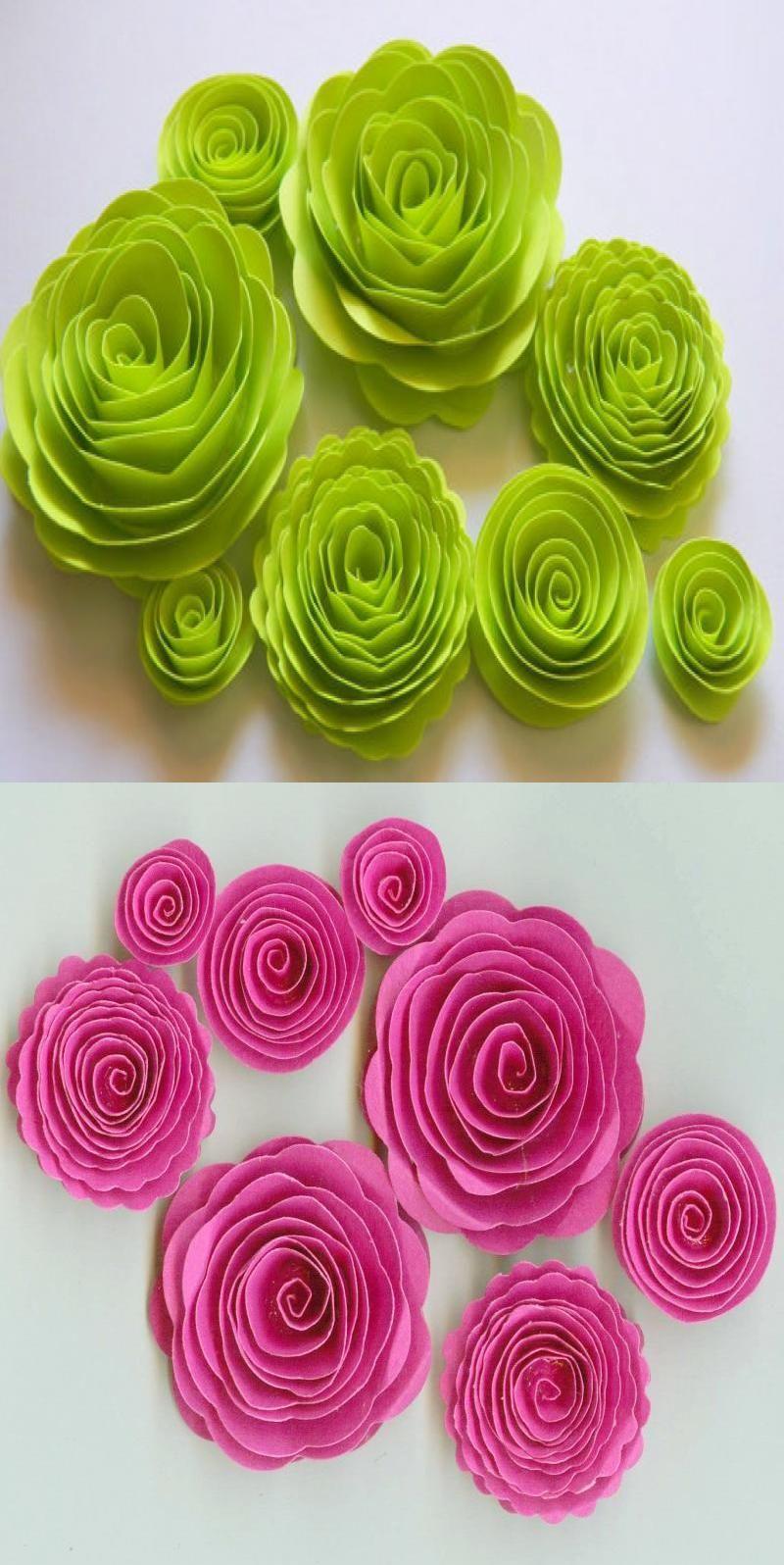 Rolled Flower Svg 3d Flower Svg Rolled Paper Flower Paper Flowers